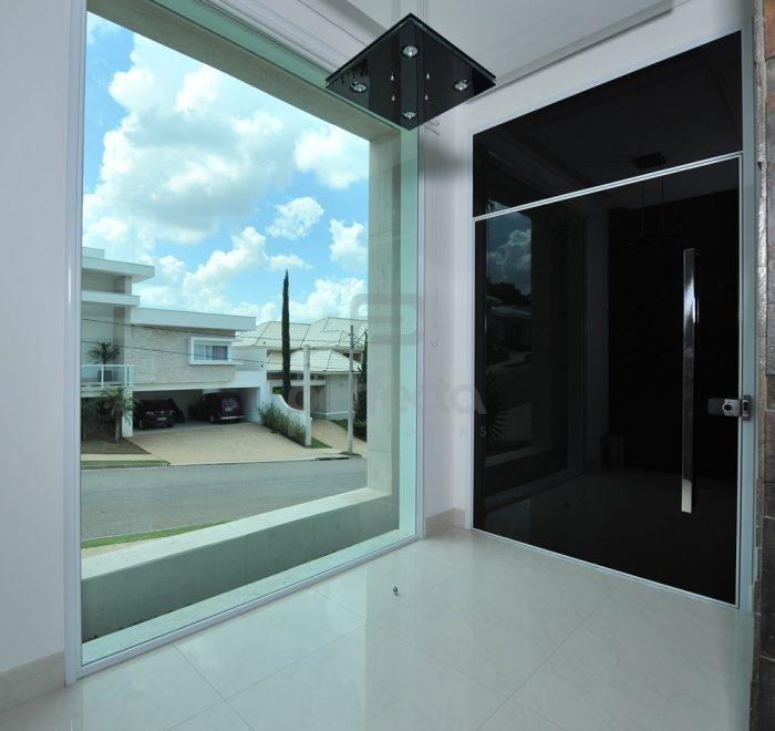 Porta de entrada revestida de vidro | Fixo