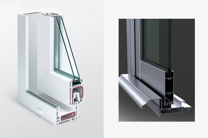 Comparativo Esquadria de Alumínio ( 32mm ) e Esquadria de PVC ( 60mm )